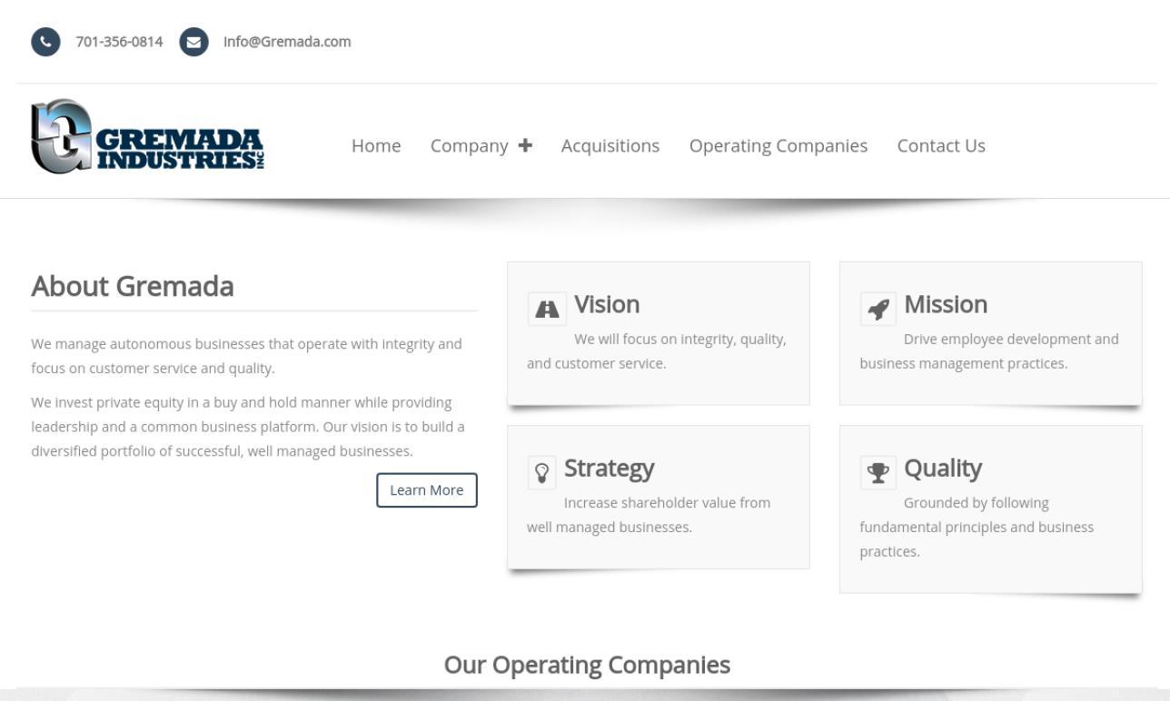 Gremada Industries, Inc.