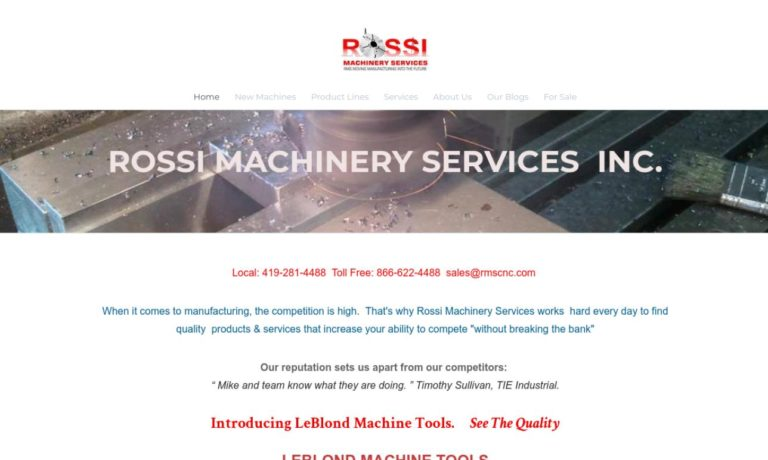 Rossi Machinery Services, Inc.
