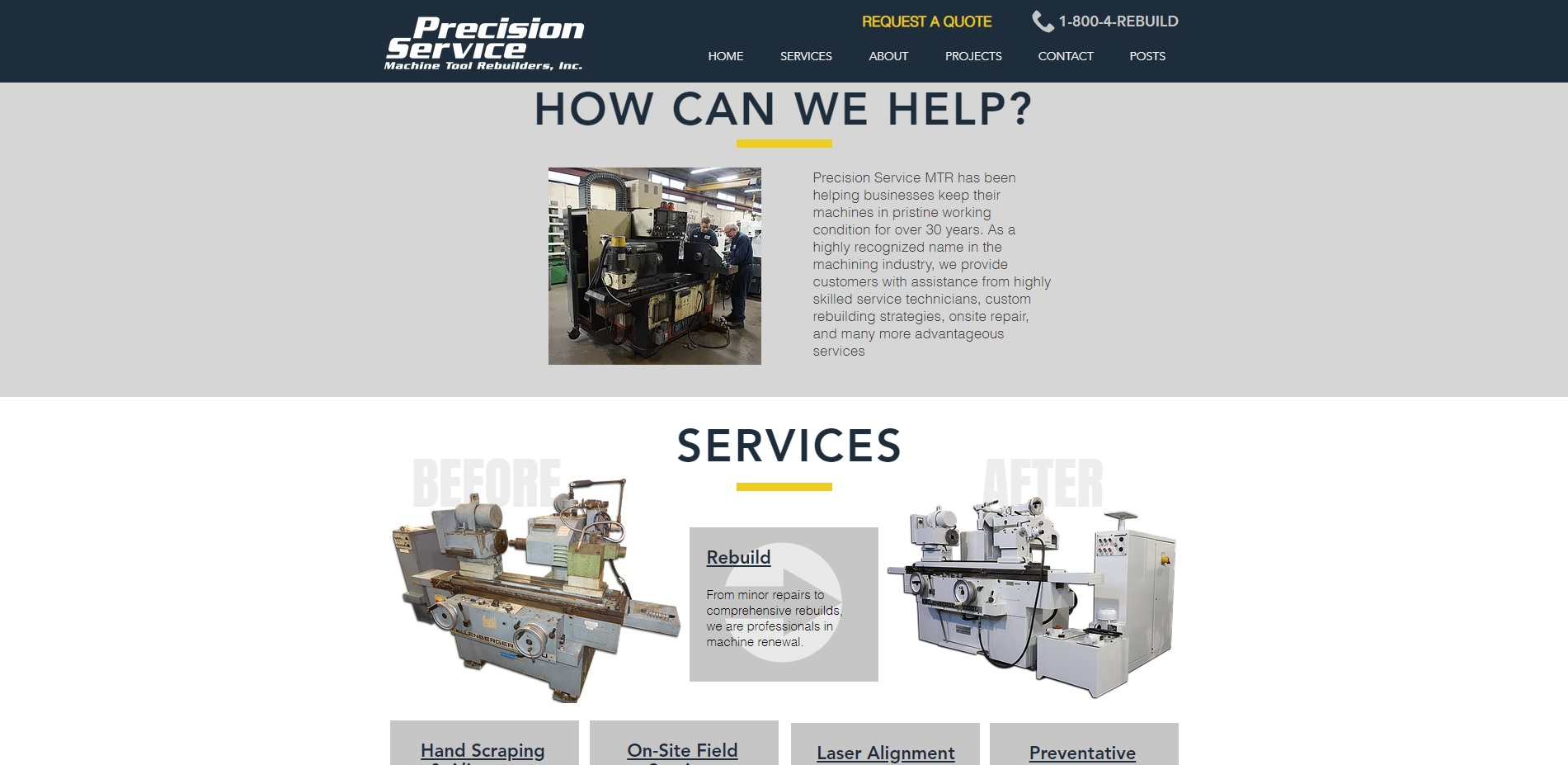 Precision Service Machine Tool Rebuilder, Inc.